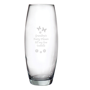 Butterflies & Flowers Personalised Vase