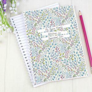 Personalised Botanical Notebook