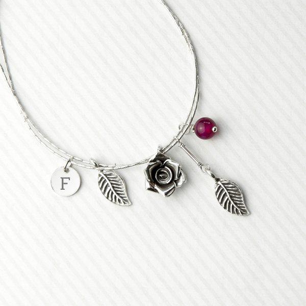 Personalised Charm Bracelet Serif Font