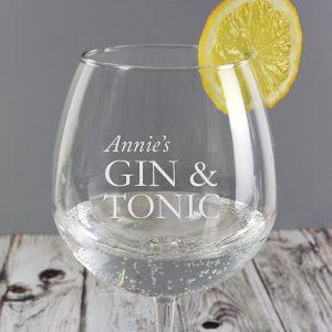 Personalised Gin Tonic Glass