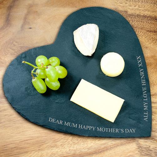 Personalised Slate Heart Cheeseboard