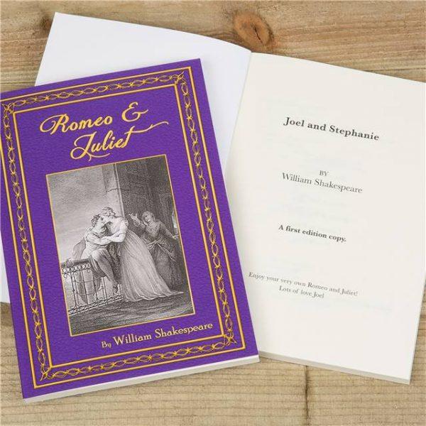 Romeo Juliet Personalised Book