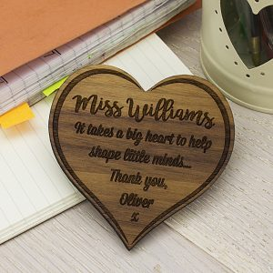 Personalised Teachers In Our Hearts Fridge Magnet