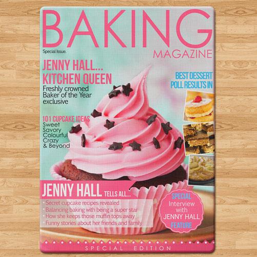 Personalised Baking Magazine Chopping Board