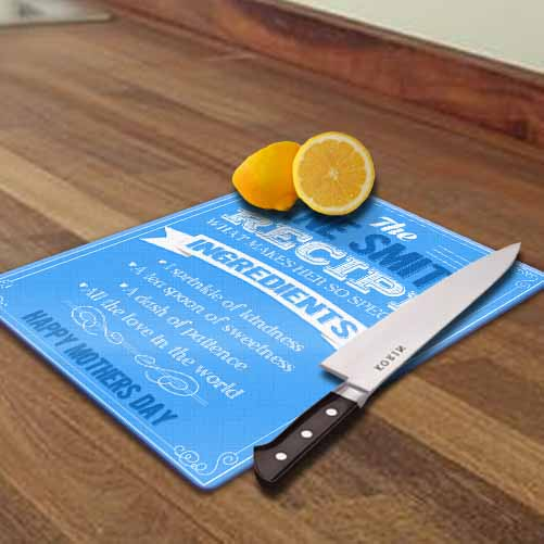 Personalised Glass Chopping Board