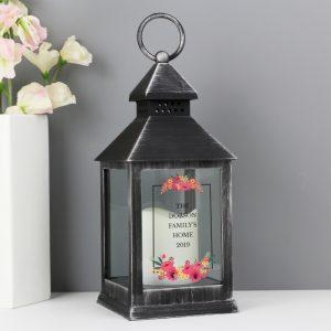 Personalised Floral Rustic Lantern