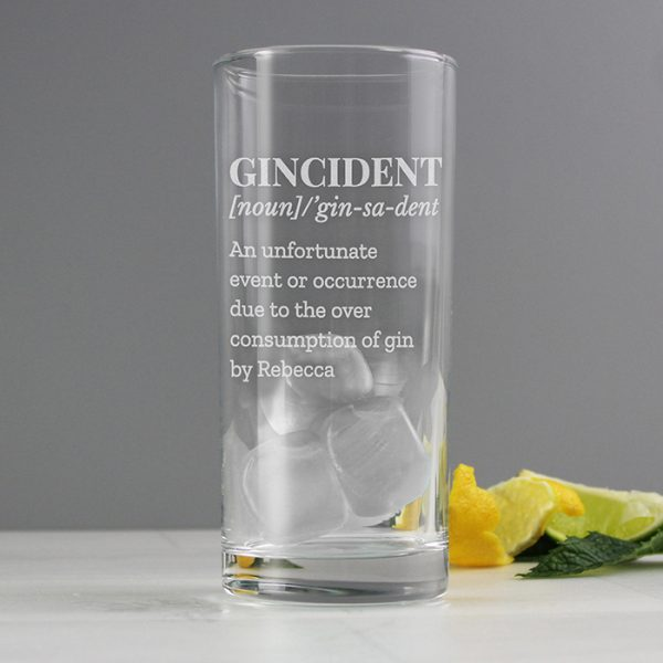 Personalised Glass for Gin