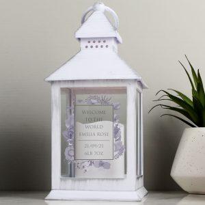 Personalised Lantern - Soft Watercolour Design