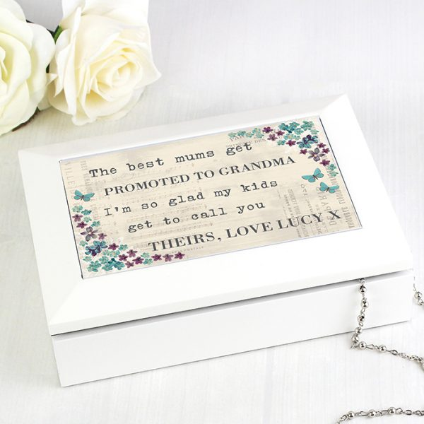 Personalised Jewellery Box - Forget Me Not