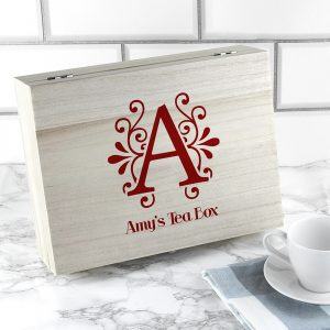 Personalised Tea Box - Initial