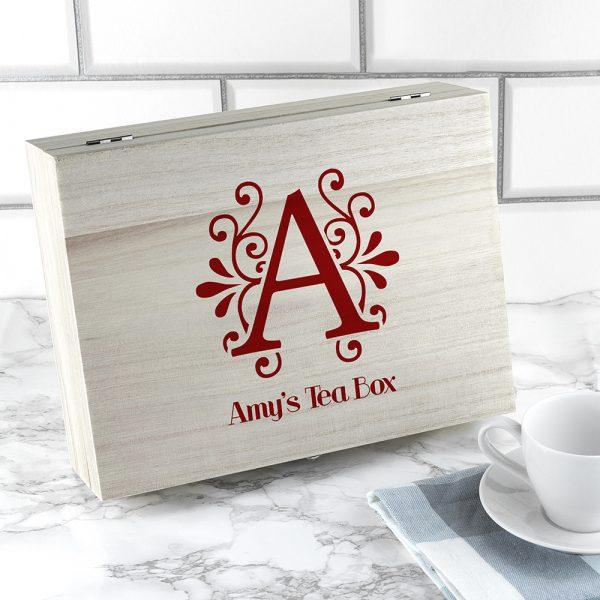Personalised Tea Box - Initial