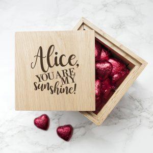 You are my Sunshine Oak Photo Cube