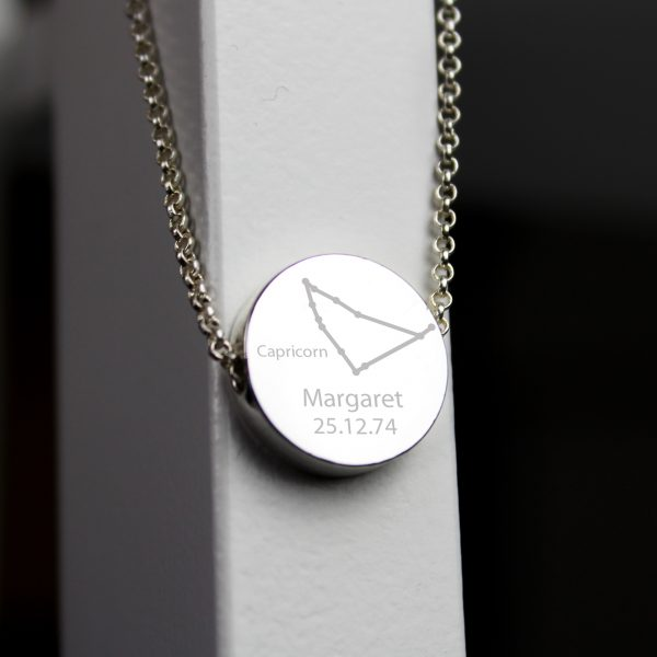 Personalised Capricorn Zodiac Star Sign Necklace