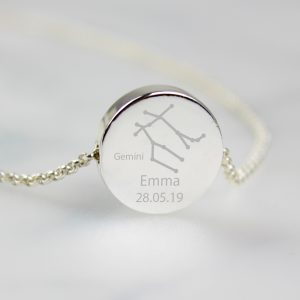 Personalised Gemini Zodiac Necklace