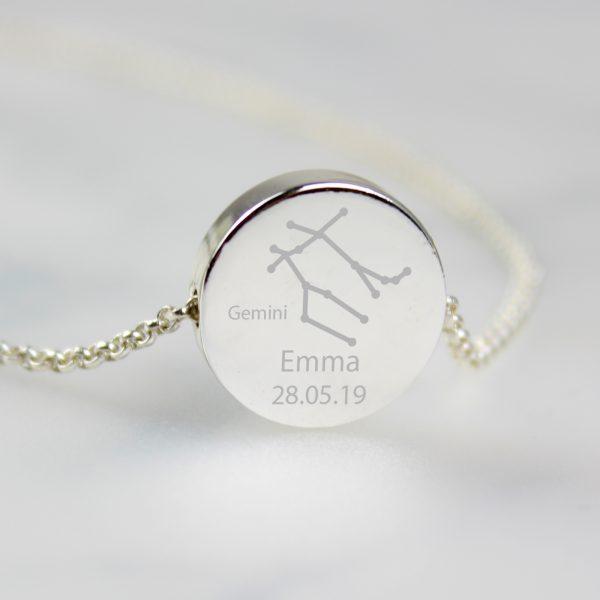 Personalised Gemini Zodiac Necklace