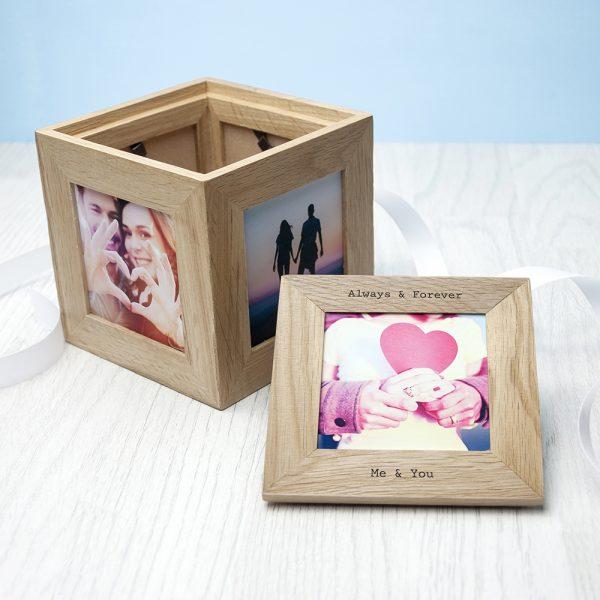 30 days of kisses oak photo cube