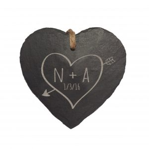 Personalised Slate Hanging Heart