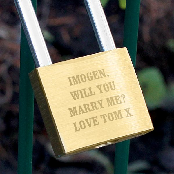Personalised Love Padlock