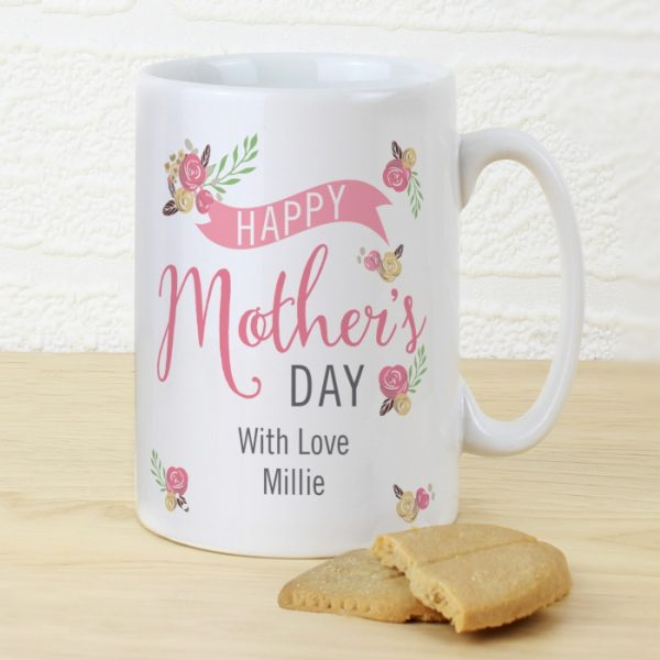 Personalised Mother's Day Mug - Floral Bouquet