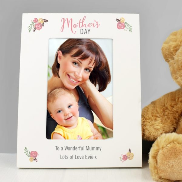Personalised Mother's Day Photo Frame - Floral Bouquet