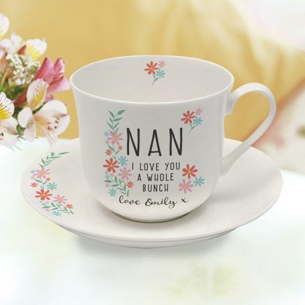 Personalised Mum's Tea Cup & Saucer