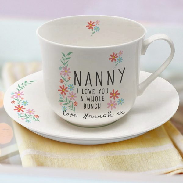 Personalised Tea Cup & Saucer