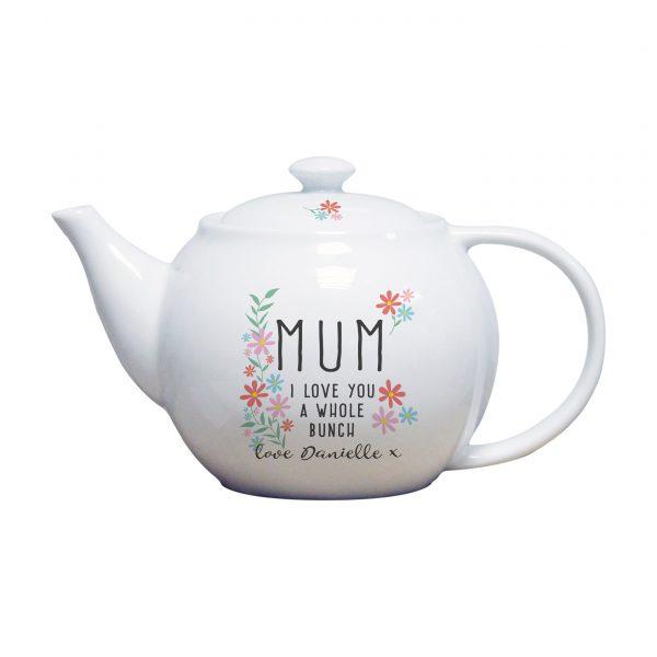 personalised tea pot for mum