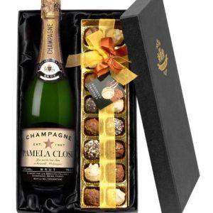 Personalised Champagne & Chocolates Gift Set
