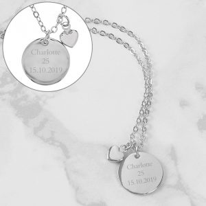 Silver Mother's Day Personalised Necklace