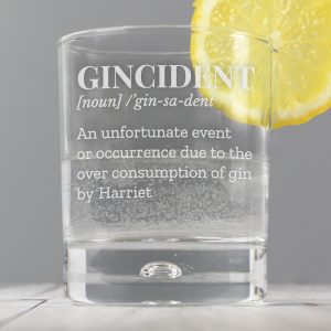 Personalised Gin Short Glass