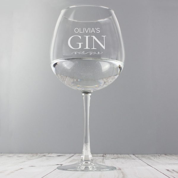 Personalised Gin Glass UK