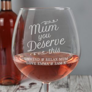 Personalised Gin Glass for Mum