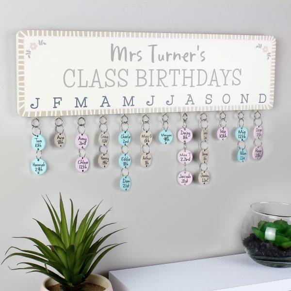 Class Birthdays Personalised Planner