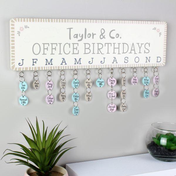 Office Birthdays Personalised Planner