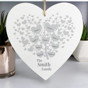 Personalised Family Tree Heart