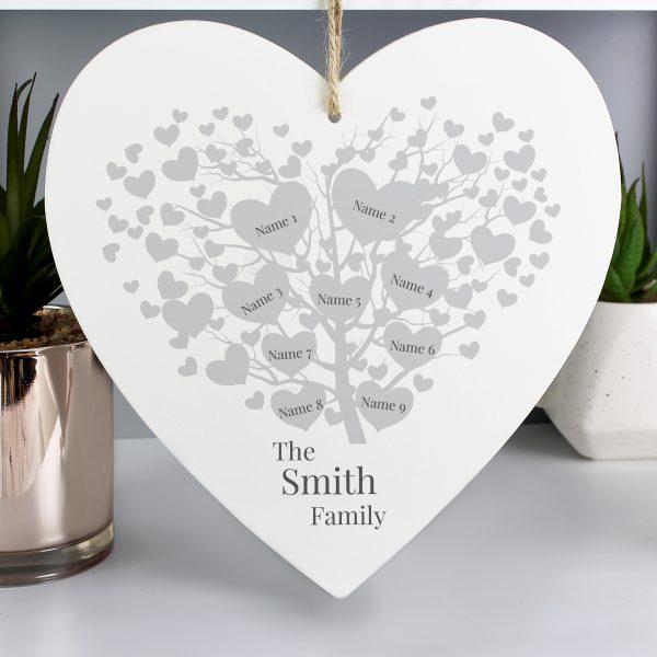 Personalised Family Tree Heart