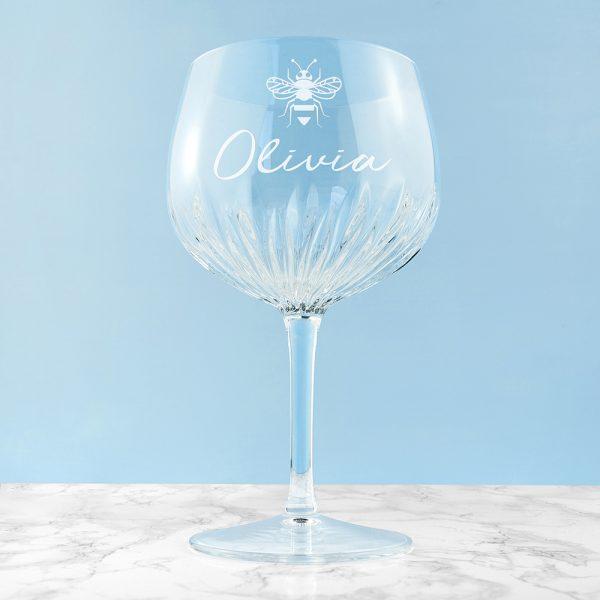 Cut Crystal Gin Glass