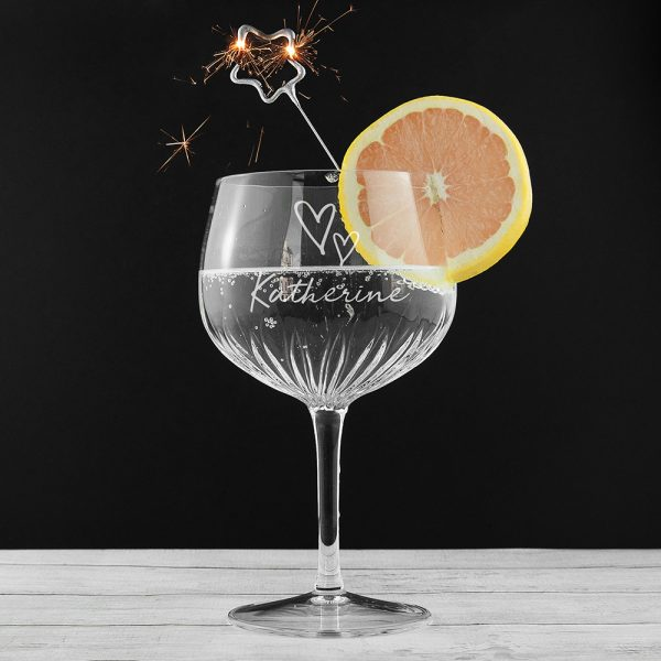 Personalised Crystal Cut Gin Glass