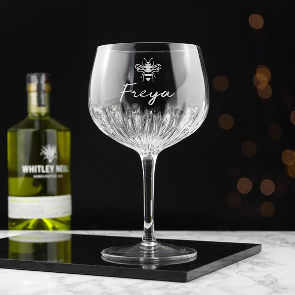 Personalised Gin Glass Crystal