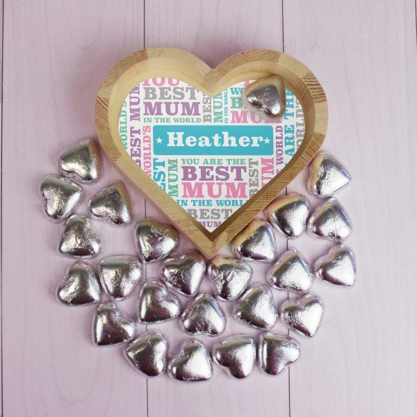 Best Mum Chocolate Heart Tray