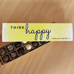 Think Happy Letterbox Chocolate Truffles