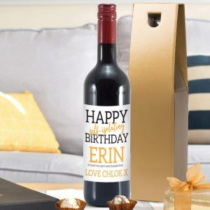 Happy Self Isolating Birthday Red Wine