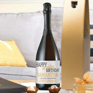 Happy Self Isolating Birthday Prosecco