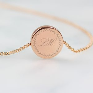 Initials Rose Gold Necklace