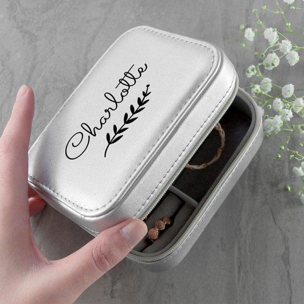 Silver Wreath Travel Jewellery Case