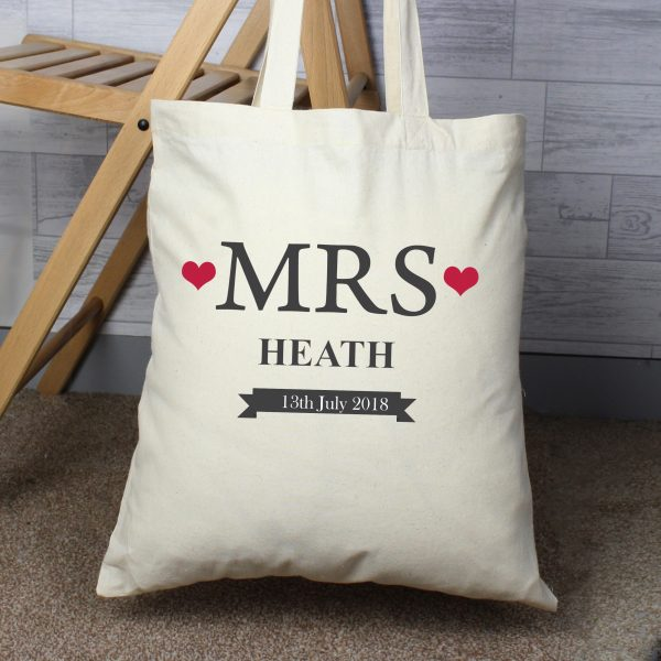 Personalised Mrs Cotton Bag