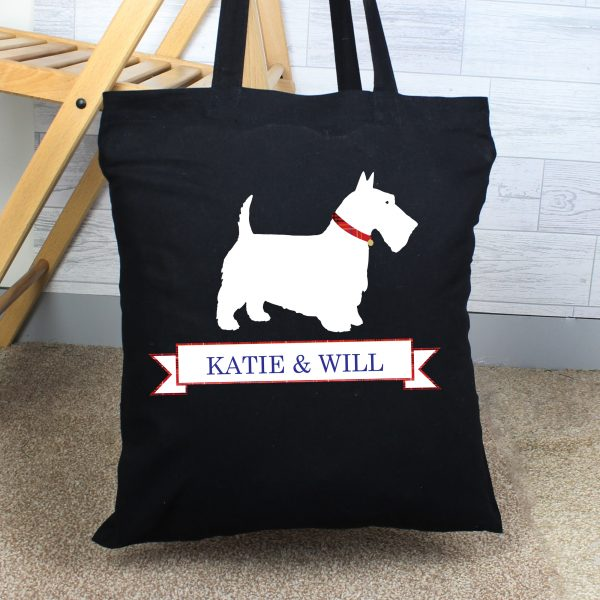 Personalised Scottie Dog Cotton Bag