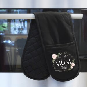 Personalised Rose Oven Gloves