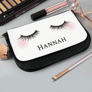 Personalised Eyelashes Make Up Bag