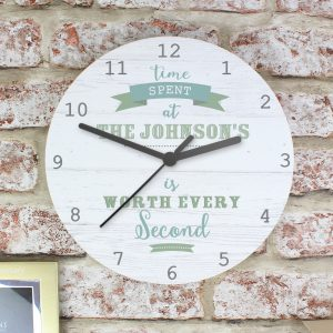 Personalised Time Spent Wooden Clock
